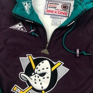 74a122c38 Apex One Jackets   Coats - Vintage Anaheim Mighty Ducks Jacket Large NWOT